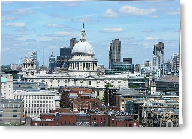 London Skyscrape - St. Paul's Greeting Card