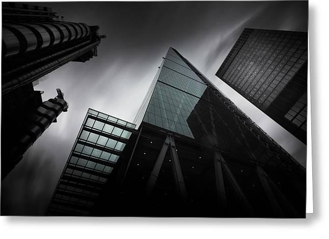 London Skyscrapers Greeting Card by Ian Hufton