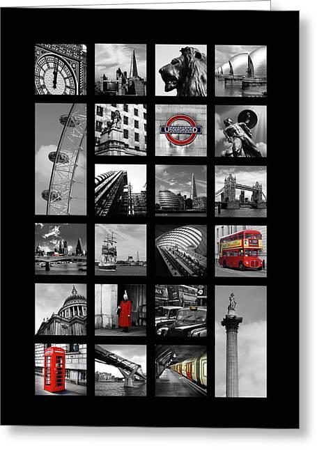 London Squares Greeting Card by Mark Rogan