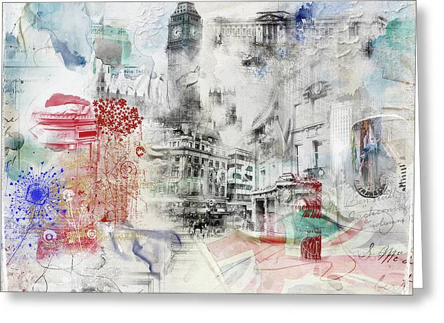 London Study Greeting Card by Nicky Jameson