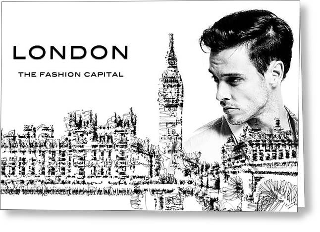 London The Fashion Capital Greeting Card