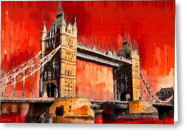 London Tower Bridge 12 - Da Greeting Card