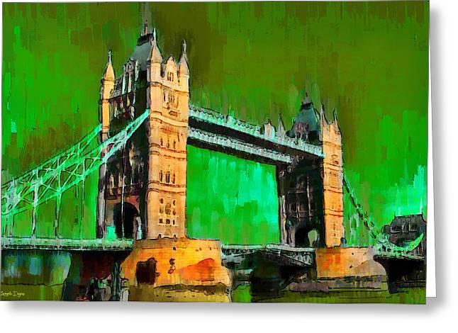 London Tower Bridge 14 - Pa Greeting Card
