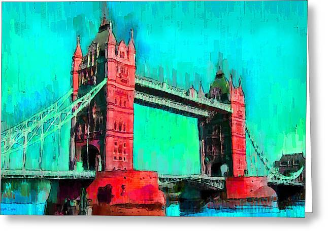 London Tower Bridge 5 - Pa Greeting Card