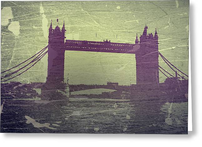 Downtown Digital Greeting Cards - London Tower Bridge Greeting Card by Naxart Studio