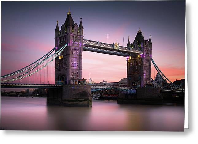 London, Tower Bridge Sunset Greeting Card by Ivo Kerssemakers