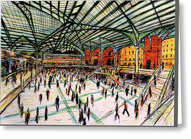 London Train Station Greeting Card