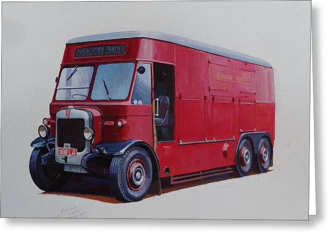 London Transport Wrecker. Greeting Card by Mike Jeffries