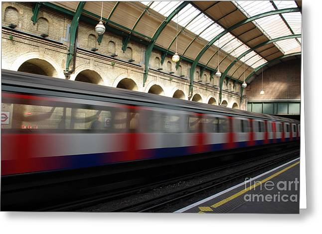 London Underground Greeting Card by Catja Pafort