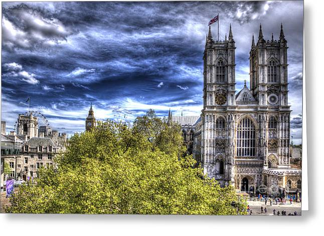London Westminster Abbey Surreal Greeting Card