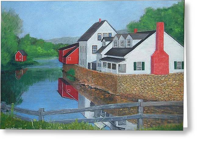 Old Masters Mixed Media Greeting Cards - Londonderry Vermont Greeting Card by Fred Jinkins