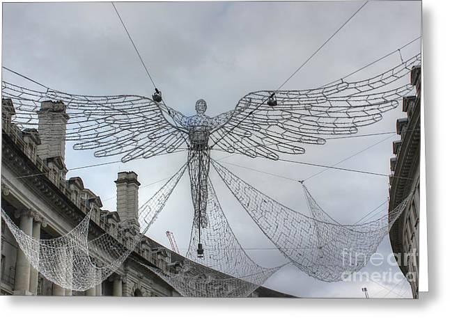 London's Angel Greeting Card