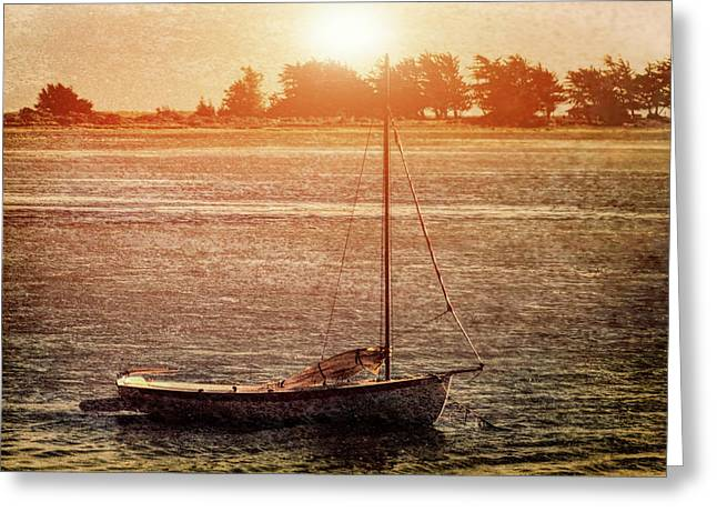 Lone Boat Greeting Card