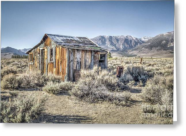 Greeting Card featuring the photograph Lone Cabin by Charles Garcia