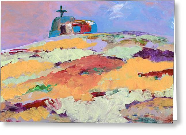 Adobe Greeting Cards - Lone Church Greeting Card by Tracy Miller