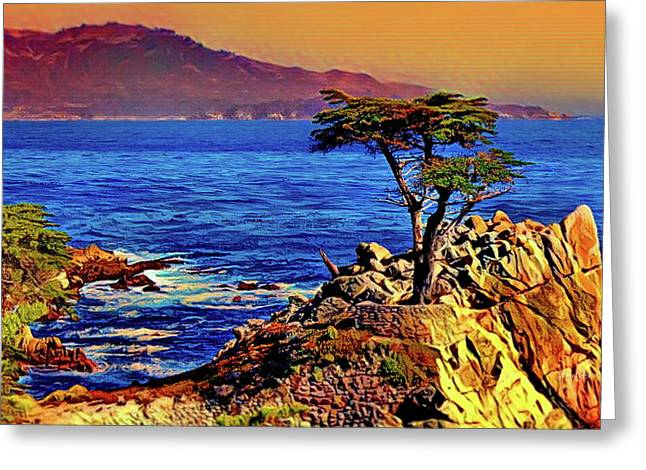 Lone Cypress - Carmel By The Sea Greeting Card