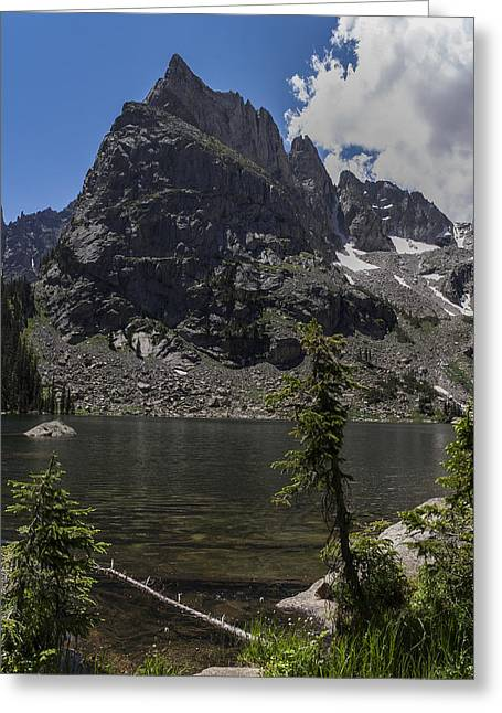 Lone Eagle Peak From Crater Lake Greeting Card