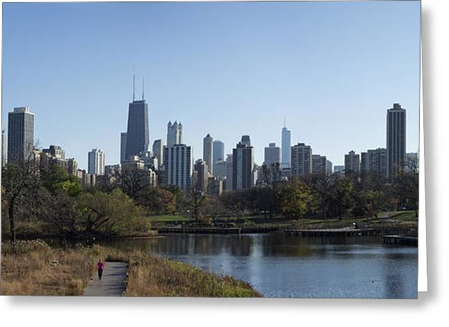 Lone Exerciser Of Lincoln Park - Chicago Greeting Card
