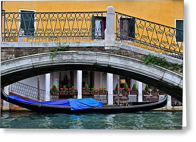 Lone Gondola Greeting Card by Frozen in Time Fine Art Photography