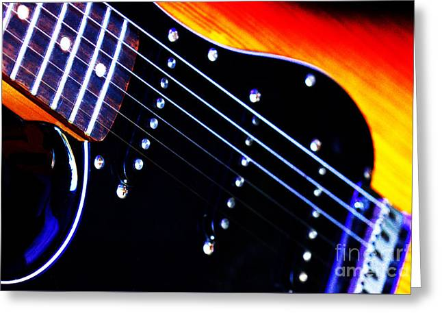 Lone Guitar Greeting Card by Stephen Melia