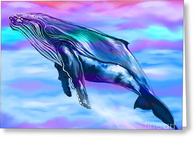 Lone Humpback Whale  Greeting Card by Nick Gustafson