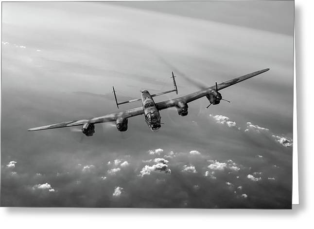 Lone Lancaster Black And White Version Greeting Card by Gary Eason