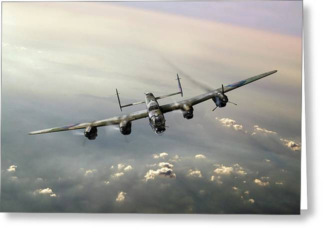 Lone Lancaster Greeting Card by Gary Eason