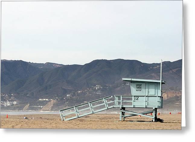 Lone Lifeguard Tower Greeting Card