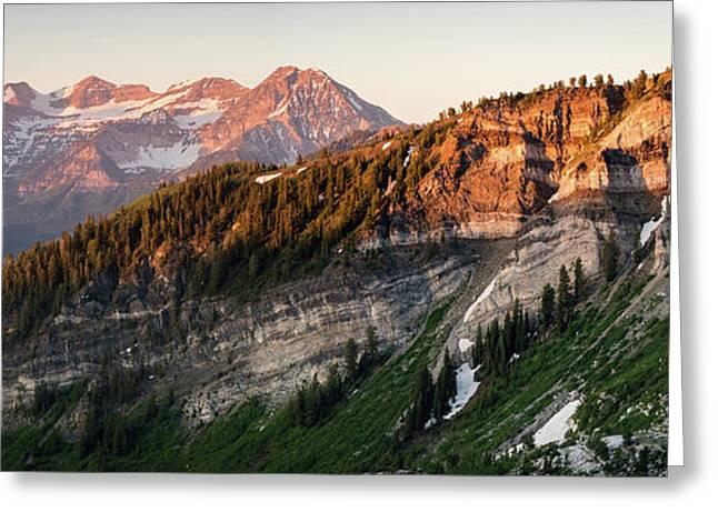 Lone Peak Wilderness Panorama Greeting Card