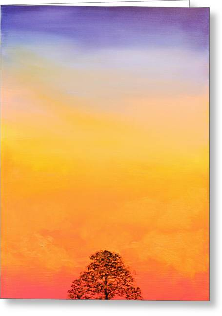 Lone Pine Greeting Card by Michele Hollister - for Nancy Asbell