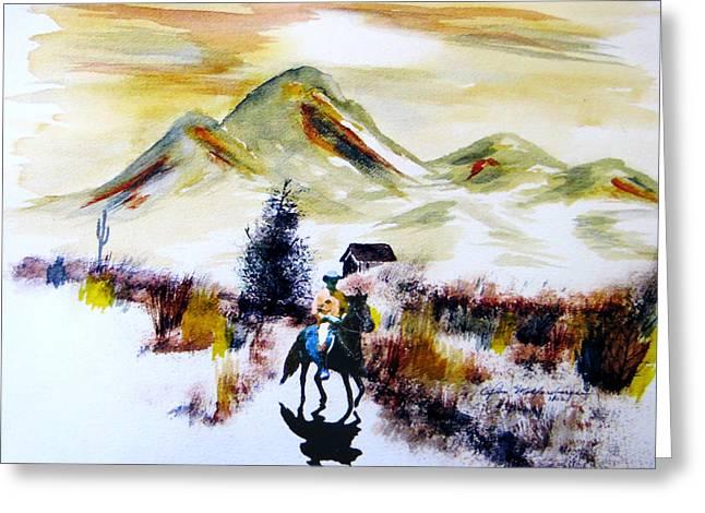 Lone Ranger Greeting Card by John Wolfersberger