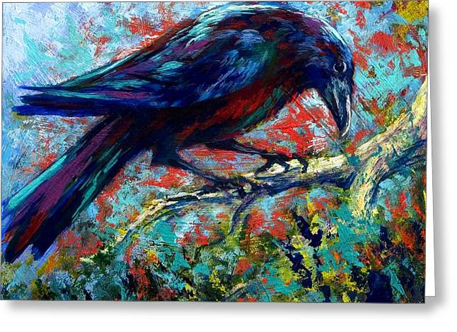 Lone Raven Greeting Card