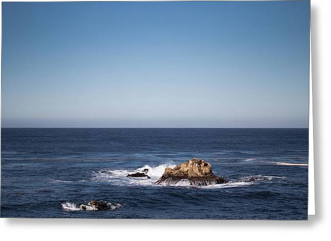 Greeting Card featuring the photograph Lone Rock In The Ocean by Jingjits Photography