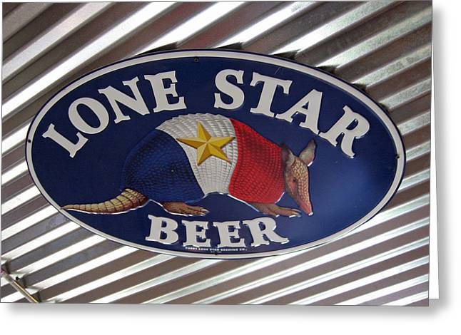 Lone Star Beer Greeting Card