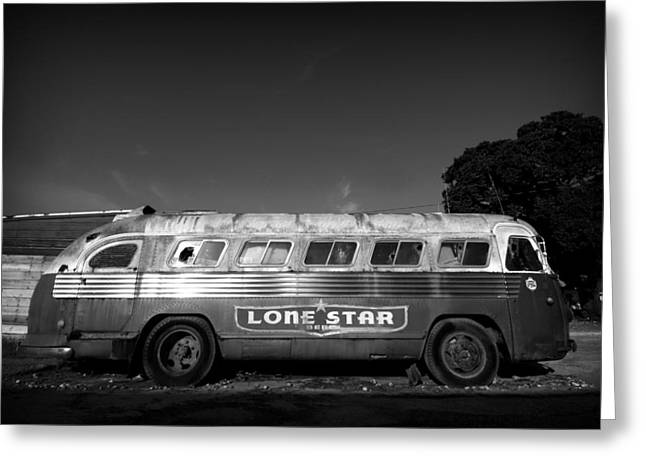 Lone Star Bus 1 Greeting Card by John Gusky