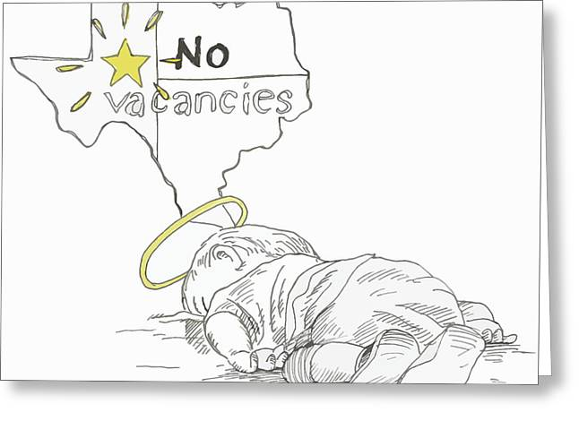 Lone Star State Of Fear Greeting Card by Steve Hunter