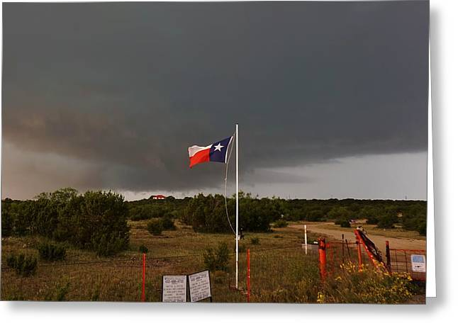 Lone Star Supercell Greeting Card