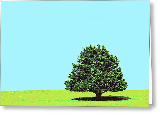 Lone Tree Greeting Card by Dominic Piperata