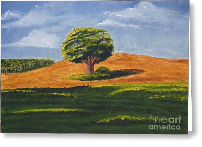 Lone Tree Greeting Card by Mendy Pedersen