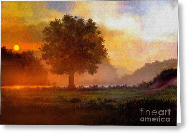 Lone Tree Greeting Card by Robert Foster