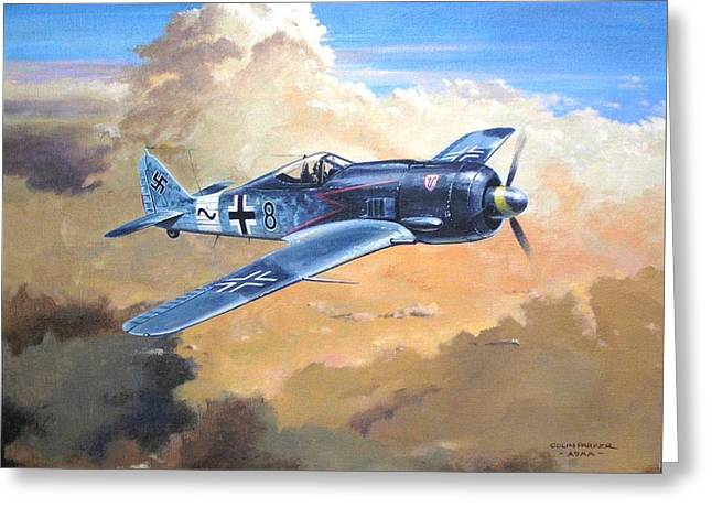 'lone Warrior Fw190' Greeting Card