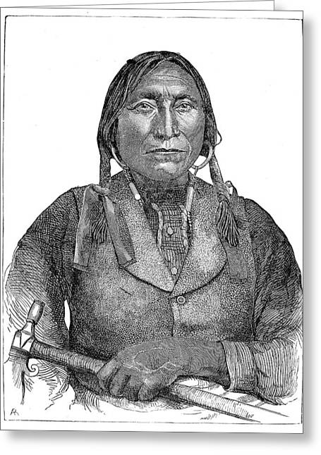 Lone Wolf, C1850 Greeting Card by Granger