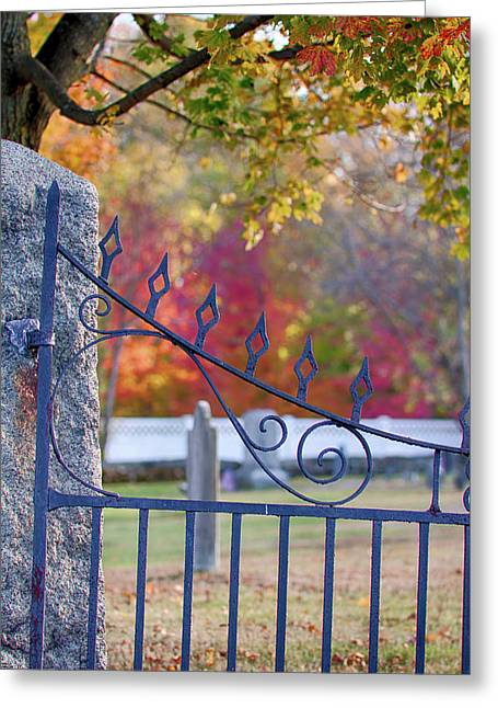 Lonely Autumn Gateway  Greeting Card
