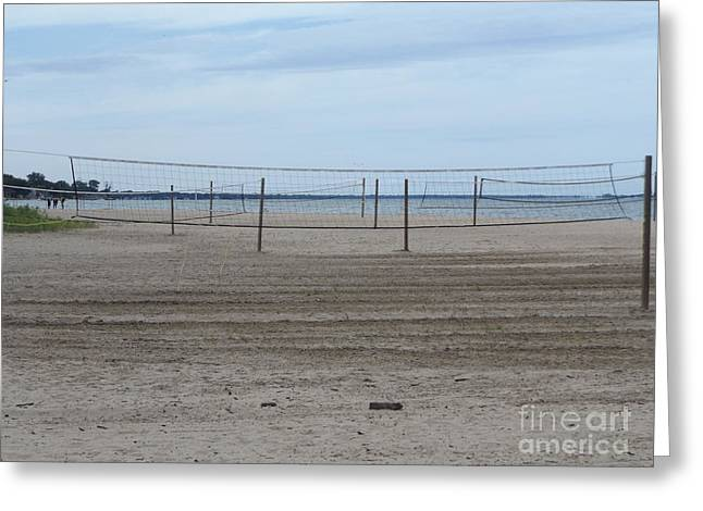 Lonely Beach Volleyball Greeting Card