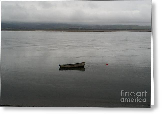Lonely Boat Greeting Card by Deborah Brewer