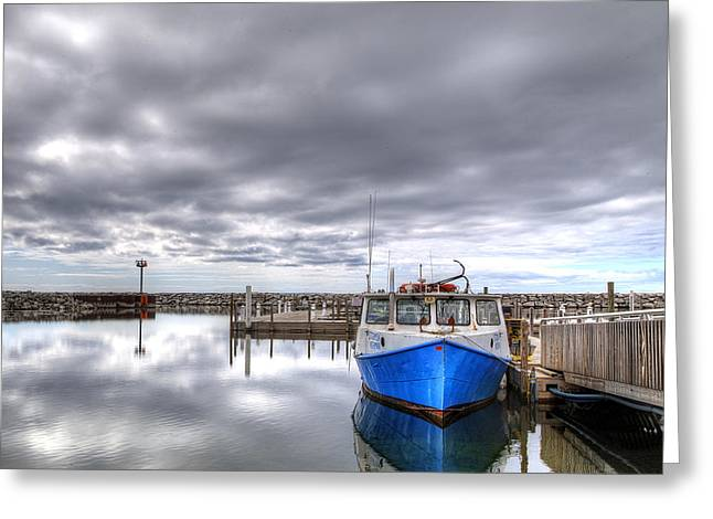 Lonely Boat Greeting Card by Twenty Two North Photography