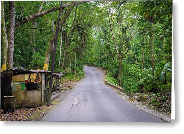 Lonely Country Road Greeting Card