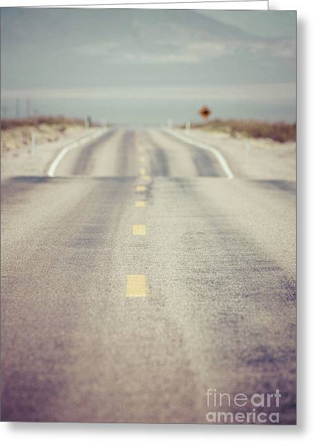 Lonely Desert Highway Road Greeting Card