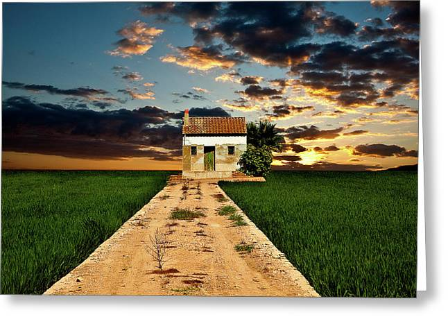 Greeting Card featuring the photograph Lonely Farm House  by Harry Spitz