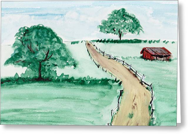 Lonely Farm Greeting Card by John Svedese